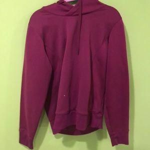 Purple under armor sweatshirt
